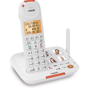 VTech SN5127 Amplified Cordless Senior Phone with Answering Machine, another vital unit among the cordless phones for seniors with dementia