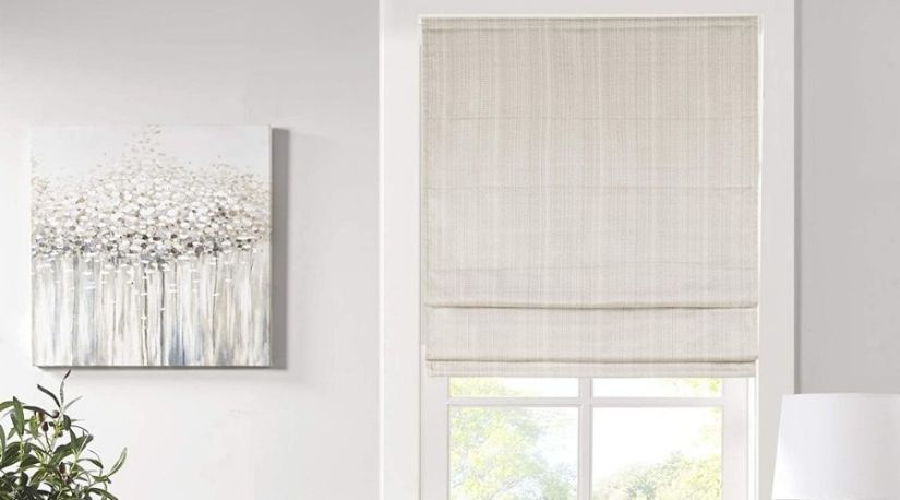 A picture of Madison Park Galen Cordless Roman Shades - Fabric Privacy Panel Darkening, Energy Efficient, another excellent unit among the best cordless blinds