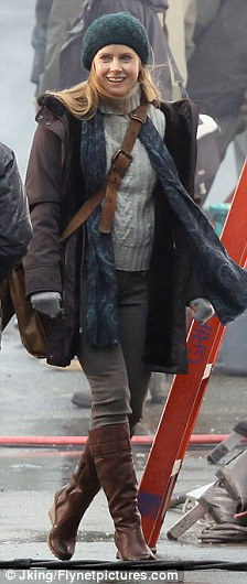 """Amy Adams on the """"Cordova"""" set of Man of Steel filmed in Ucelet, BC"""