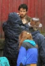"Henry Calvill on the ""Cordova"" set of Man of Steel filmed in Ucelet, BC"
