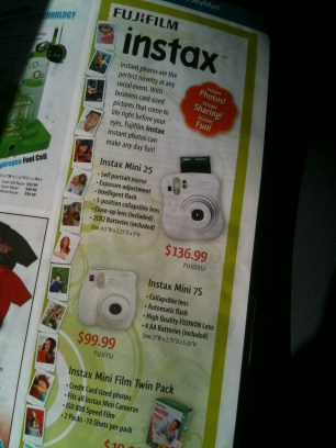 Wow, a camera that prints the picture out of the device? Oh, wait... that's a Polaroid and those went out of style 15 years ago