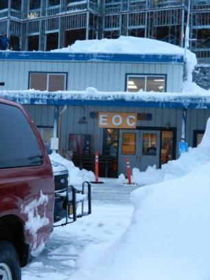 EOC set up at City of Cordova building