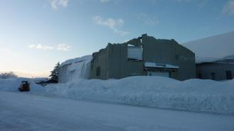 The roof of Copper River Seafood's fisherman's camp collapsed!