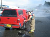 Probie, Megan Hess at the CVFD Carwash fundraiser
