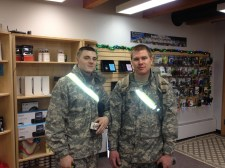 At Cordova Wireless, we borrowed some phones for these National Guard folks to use while they're here. We appreciate you guys!!