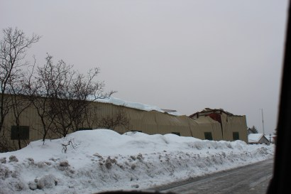 Copper River Seafood's Alaska Fisherman's Camp started to collapse Fri, Jan 6th