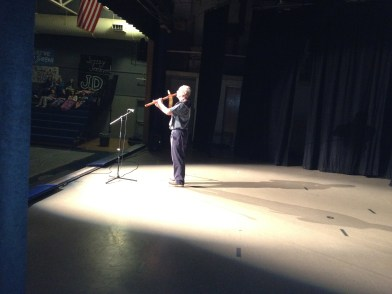 Bill Cobb playing the Lakota Flute at the Variety Show
