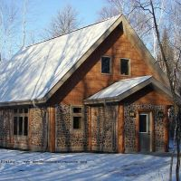 White Earth Reservation Cordwood Home