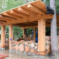Cordwood Chicken Coop in British Columbia