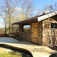 Cordwood in Sweden @ Pelle Henriksson's cordwood sauna