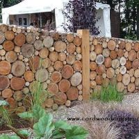 Cordwood Signs, Gateways & Fences