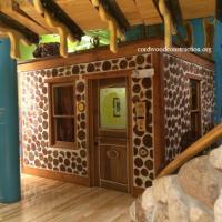 Cordwood Cabin inside Children's Museum
