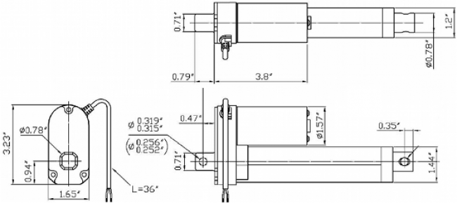 Concentric LACT8P-12V-20 Linear Actuator with Feedback: 8
