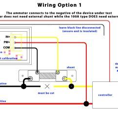 Dc Ammeter Shunt Wiring Diagram 2007 Subaru Impreza Dual Digital Display Voltmeter And 100v 10a