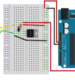 arduino uno r3 connected to a dc motor via a breadboard and some other components [ 1764 x 996 Pixel ]