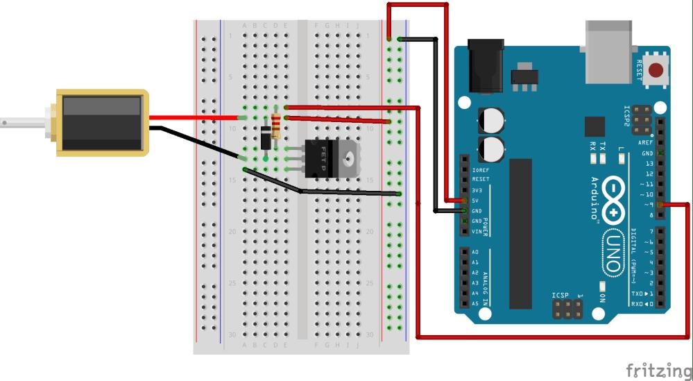 medium resolution of circuit diagram of solenoid and arduino uno r3 setup
