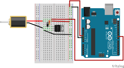 small resolution of circuit diagram of solenoid and arduino uno r3 setup