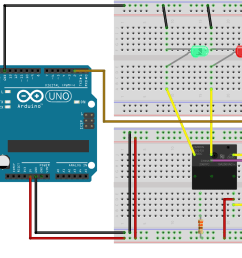 a circuit diagram of an arduino uno r3 connected to a relay via breadboard [ 1824 x 1251 Pixel ]