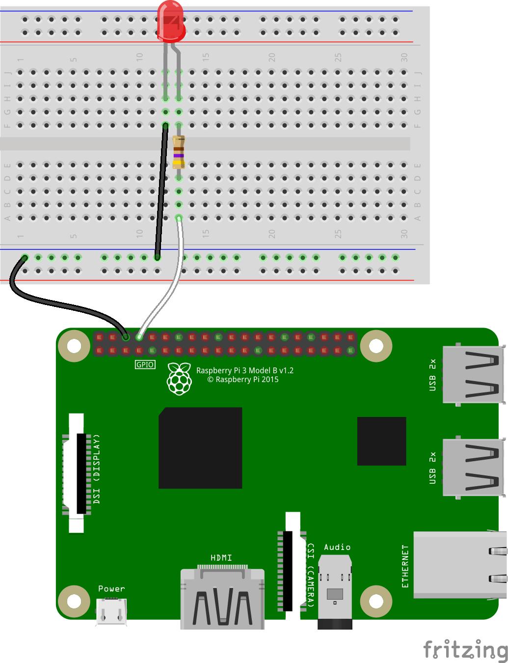 hight resolution of single led raspberry pi
