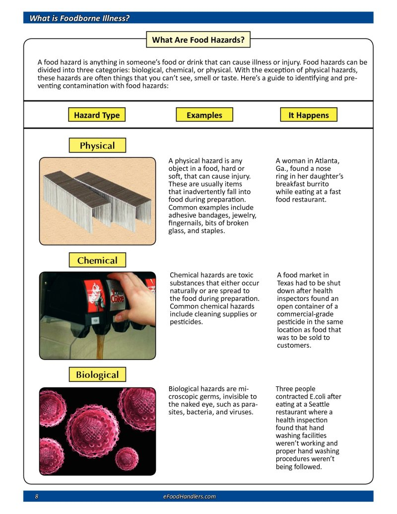 physical hazards in food examples | Foodstutorial org