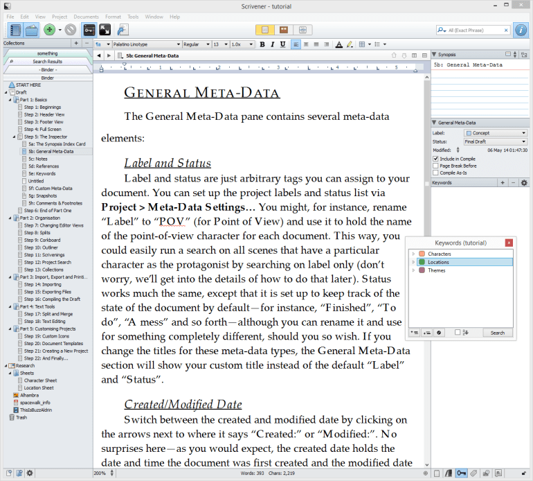 Scrivener 2 is a great alternative to Microsoft Word and other writing programs for writers
