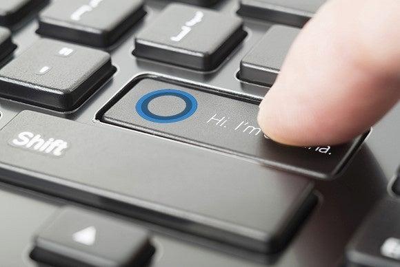 cortana chave do botão de retorno