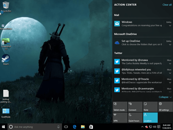 How To Customize Windows 10s Action Center PCWorld