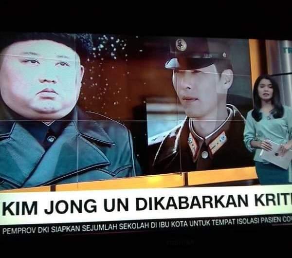 CNN INDONESIA PEDE DESCULPAS POR USAR FOTO DE HYUN BIN EM NOTÍCIA DE KIM JONG UN