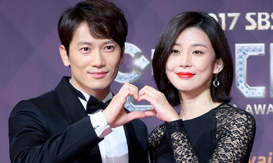 Ji Sung mostra um doce apoio para sua esposa Lee Bo Young no set de 'Mine'