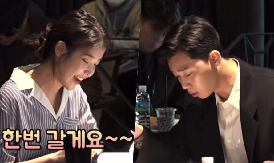 Park Seo Joon e IU compartilham paixão e risos ao ler o roteiro de um novo filme