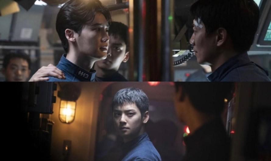O filme 'Decibel' lança novas fotos de Lee Jong Suk, Cha Eun Woo e mais