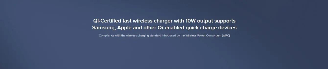 1000mah mi wireless charging powerbank