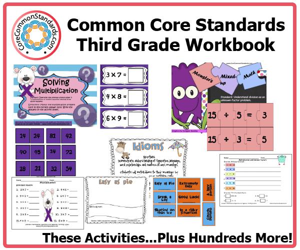 Third Grade Common Core Activities