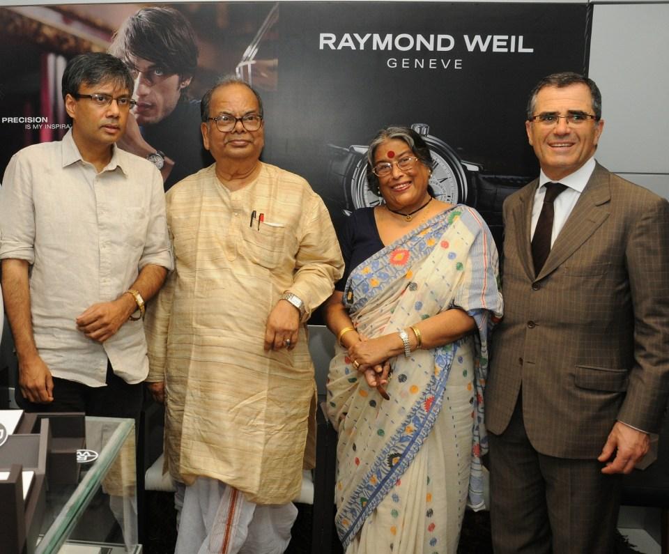 Pic 1 Fm Left Authors Amit Chaudhuri  Manishankar  Nabaneeta Dev Sen and Olivier Bernheim  President & CEO of Raymond_