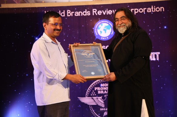 Aam Admi Party Chief Arvind Kejriwal receives award at Asia Awards @ World Bra_