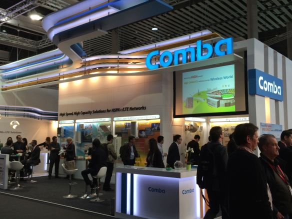 Comba Telecom booth at Mobile World Congress 2014