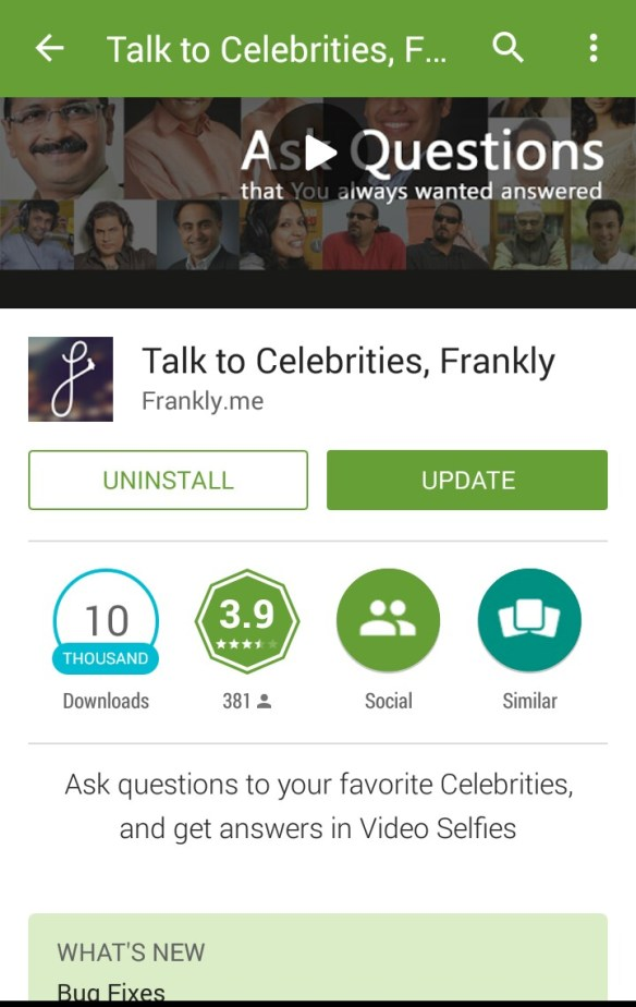 Play Store - Frankly.me