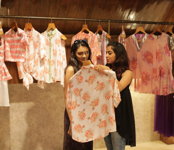 Clients at Sonam Parmar's collection launch at Amara copy