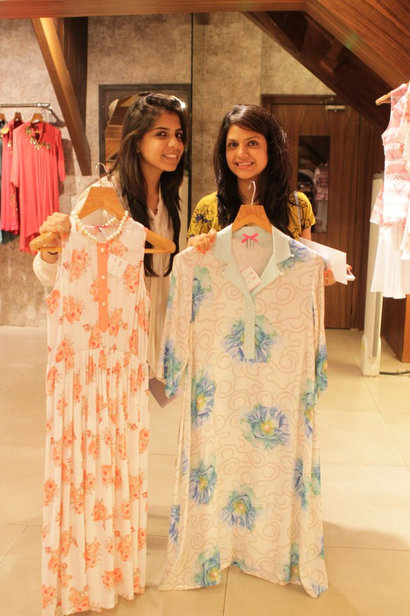 Clients with their selected outfits from Sonam Parmar's collection at Amara copy