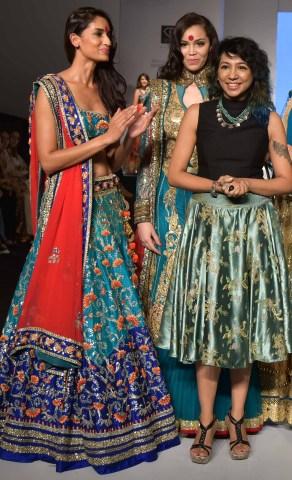 Model Krishna Somani with Designer Ankita Chaudhary