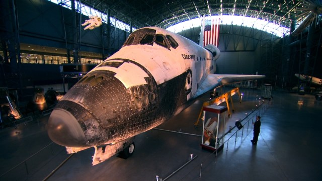 Space Month  Space Shuttle in hangar at Udvar Hazy Center Washington