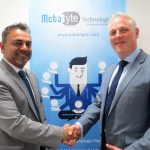 Salil Dighe  founder and CEO at Meta Byte Technologies with Terry Walby  Chief Executive at Thoughtonomy (L to R)