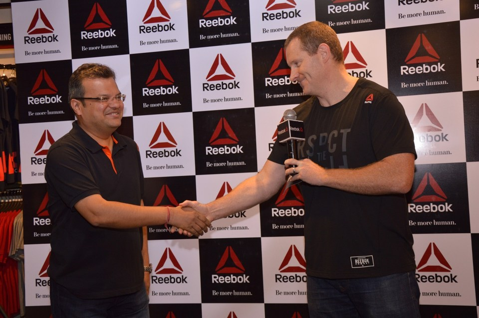 Dave Thomas Managing Director Reebok and adidas India with Ajay Jain owner of Reebok's largest franchise-BCPL at t_