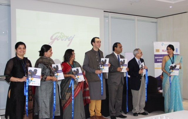 Launch of report on csr in skill development at godrej skills from left to right siddhi lad pr corporate communications dhfl vikas goswami head sustainability good green godrej industries limited and malvernweather Gallery