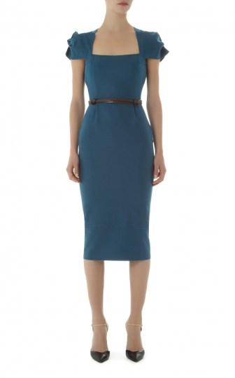 Galaxy dress, Petrol Blue_F-2