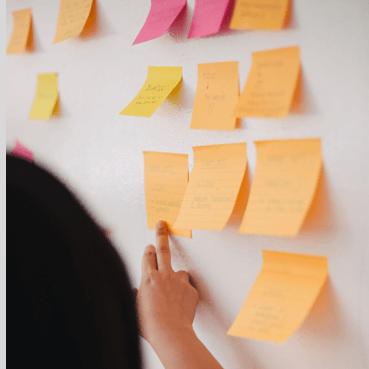 Sticky Notes on Idea Board