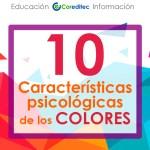 10 Características de psicológicas  de los COLORES