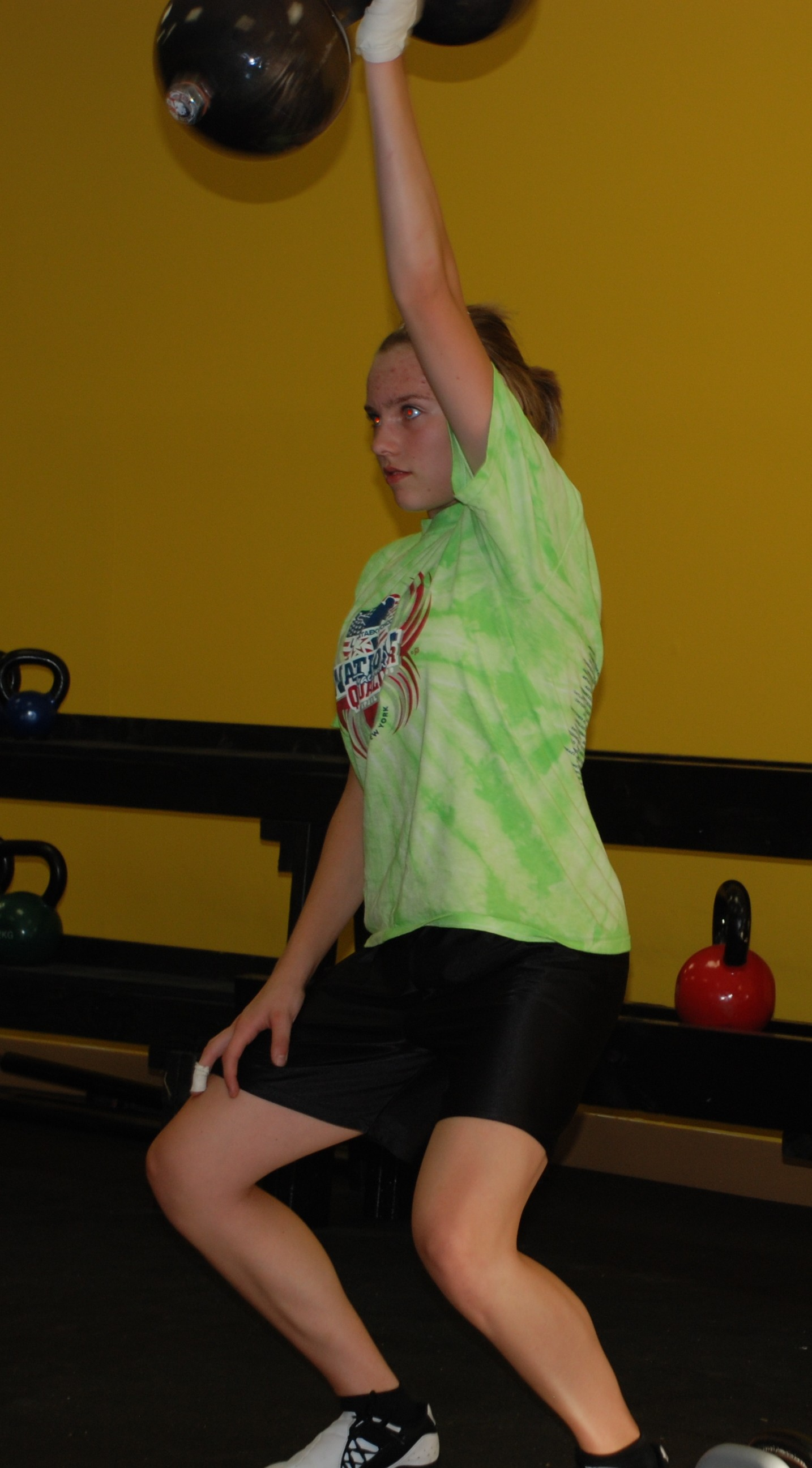 Brittany on the Dumbell Snatch