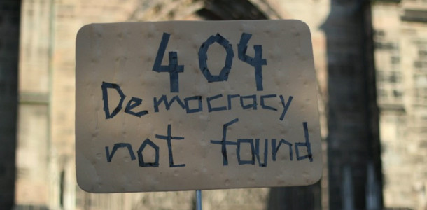 Democracy not found