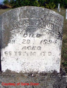 Margaret Ann McGee-Corel Tombstone